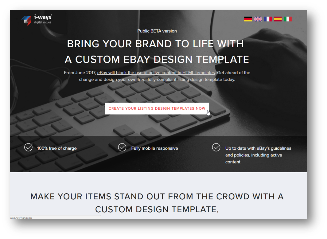 EBay Template Create Customize Iways Sales Solutions GmbH - Ebay template creator