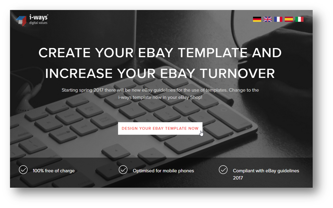 Shop Template Integration Iways Sales Solutions GmbH - Create ebay store template