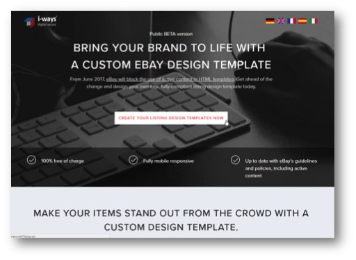 EBay Sell Your Item Flow Documentation Iways Sales Solutions GmbH - Ebay listing template creator
